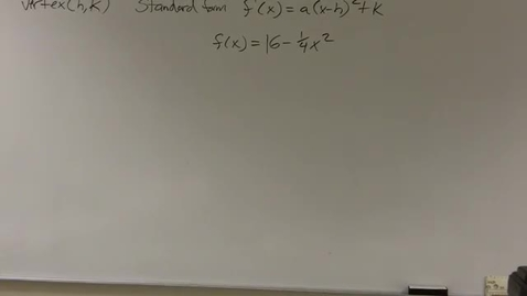Thumbnail for entry 2.1 Finding the x intercepts of a quadratic equation
