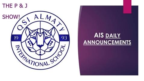 Thumbnail for entry QSI AIS Friday, June 12 announcements