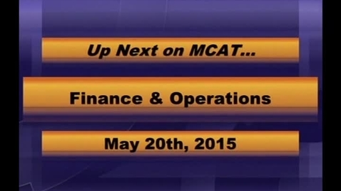 Thumbnail for entry MCPS Finance & Operations Mtg May 20 2015