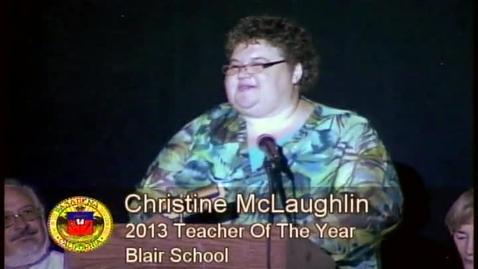 Thumbnail for entry 2013 Teacher of the Year Christine McLaughlin Speech
