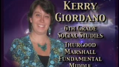Thumbnail for entry Kerry Glordano-Teacher profile