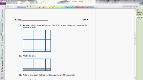 Thumbnail for entry Unit 3 Test Review part 2 of 2