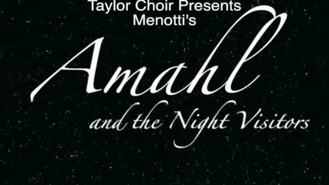 Thumbnail for entry Amahl & The Night Visitors Promo