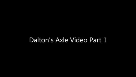 Thumbnail for entry Dalton's mustang rear axle repair