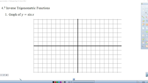 Thumbnail for entry 4.7 Lesson on Inverse Trig