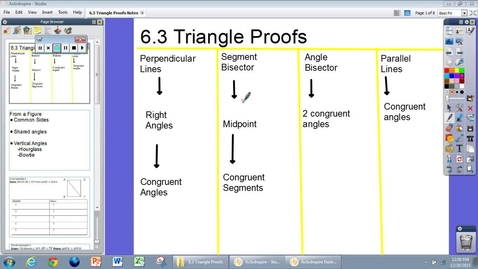 Thumbnail for entry 6.3 Triangle Proof Notes