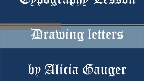 Thumbnail for entry Typography Lettering lesson