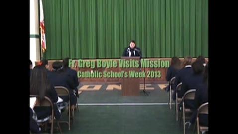 Thumbnail for entry Fr. Greg Visits Mission