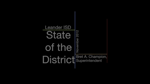 Thumbnail for entry State of the District - 2012