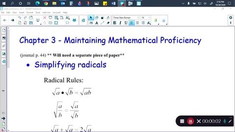 Thumbnail for entry Alg 2B ch 3 math proficiency