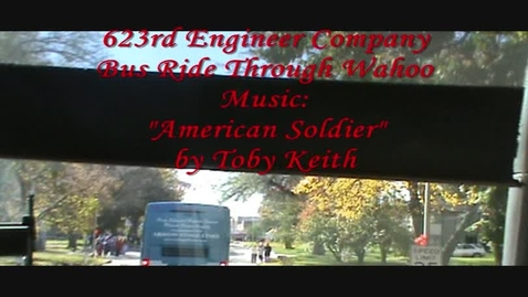 Thumbnail for entry Students & Staff Assist in Hero's Sendoff of Local National Guard Unit (Downtown Video)