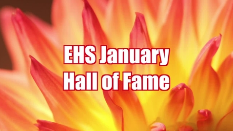 Thumbnail for entry Student of the Month EHS January 2016