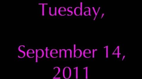 Thumbnail for entry Wednesday, September 14, 2011