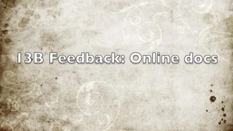Thumbnail for entry Lower Sixth Feedback Video:  Analysing Online Documents