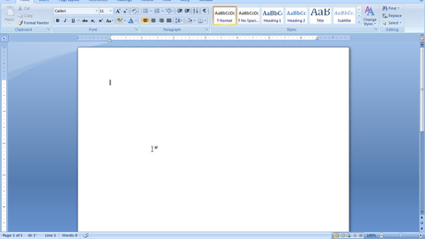 Thumbnail for entry MS Word Headers and Page Numbers