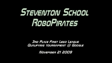 Thumbnail for entry Stevenson RoboPirates Place Third