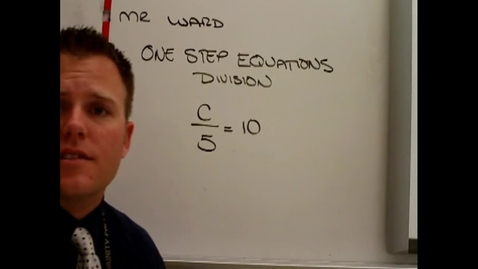 Thumbnail for entry One step equations with Divsion