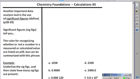 Thumbnail for entry Stephens Chemistry: (9/4/15) Introduction to Significant Figures