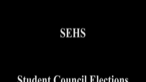 Thumbnail for entry SEHS School Council Candidate Videos 2012