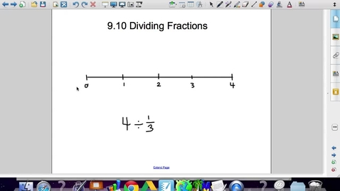 Thumbnail for entry 9.10 Dividing Fraction by Fraction