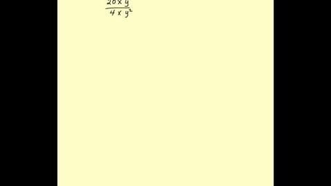 Thumbnail for entry dividing monomials