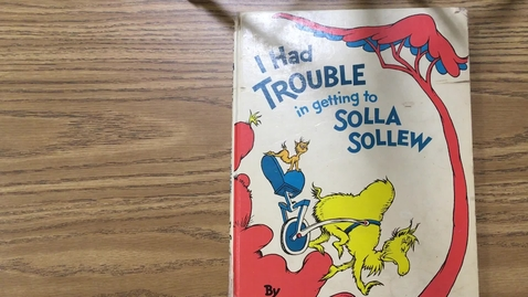 Thumbnail for entry Read Aloud - I Had Trouble in getting to Solla Sollew - 9/9/2020
