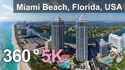 Thumbnail for entry Miami Beach, Florida, USA. Aerial 360 video in 5K