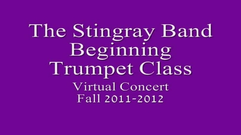 Thumbnail for entry 3rd period Beg. Trumpet Class