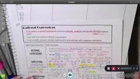 Thumbnail for entry 8-20 Pre-Calc Adding and Subtraction Rational Expressions