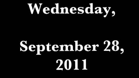 Thumbnail for entry Wednesday, September 28, 2011