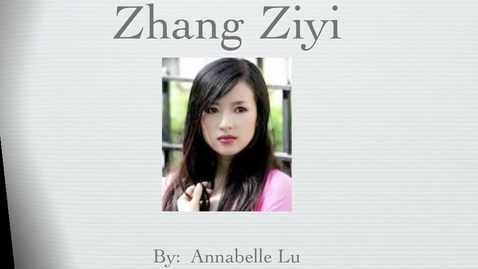 Thumbnail for entry Zhang Ziyi
