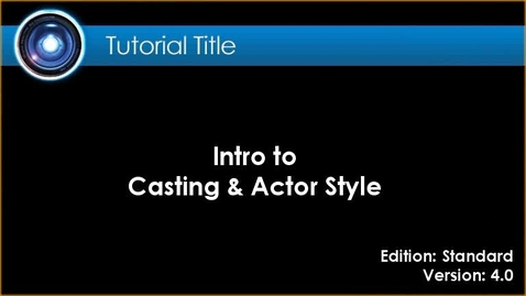Thumbnail for entry iClone Tutorial - Casting & Actor Style