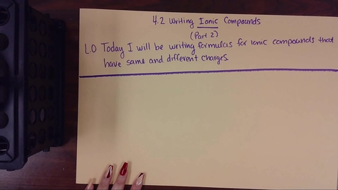 Thumbnail for entry 4.2 Writing Ionic Compounds Pt 2