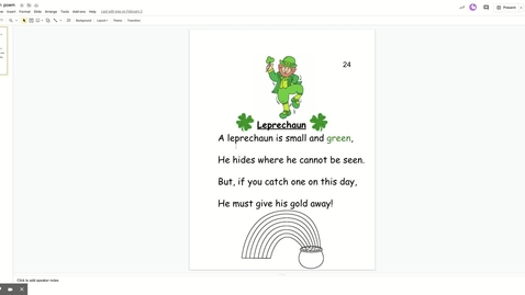 Thumbnail for entry Leprechaun poem - Google Slides