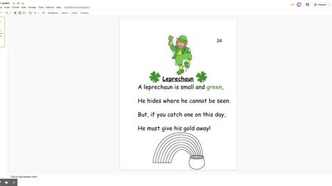 Thumbnail for entry Leprechaun poem - Google Slides