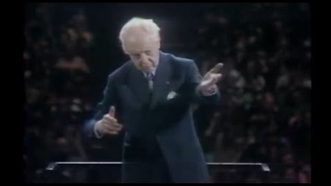Thumbnail for entry Bach-Stokowski 'Little Fugue' - Bernstein introduces the Maestro