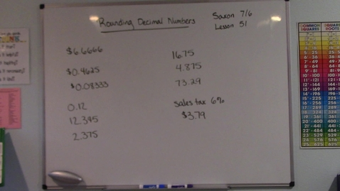 Thumbnail for entry Saxon 7/6 - Lesson 51 - Rounding Decimal Numbers