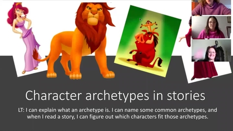 Thumbnail for entry Character Archetypes Lesson