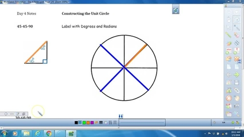 Thumbnail for entry Math 3 Unit 8 Lesson on Constructing the Unit Circle