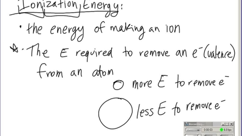 Thumbnail for entry Stephens Pre-AP Chemistry: (12-13-13) Trends of the Periodic Table (Ch7)