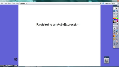 Thumbnail for entry Registering ActivExpressions