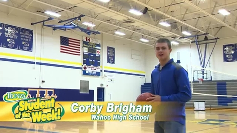 Thumbnail for entry Corby Brigham: Runza Student of the Week!