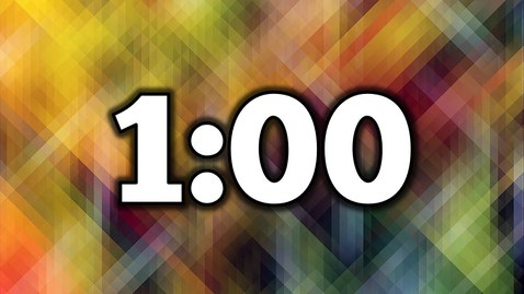 Thumbnail for entry 1 Minute Timer