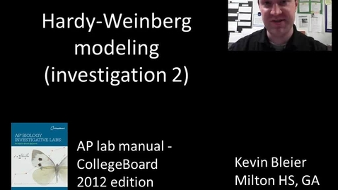Thumbnail for entry Investigation 2 - Hardy-Weinberg modeling