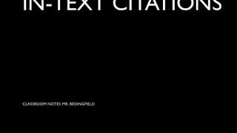 Thumbnail for entry In-text Citations