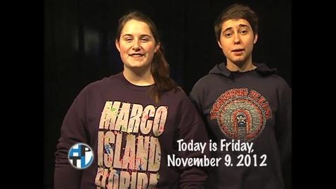 Thumbnail for entry Friday, November 9, 2012
