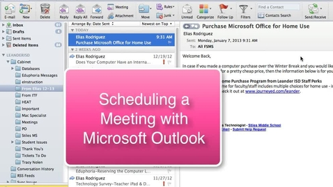 Thumbnail for entry Creating a Meeting with Outlook Client