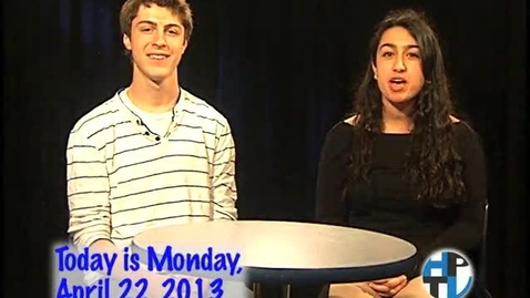 Thumbnail for entry Monday, April 22, 2013