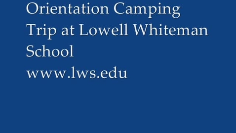 Thumbnail for entry Lowell Whiteman Fall Camping Trip