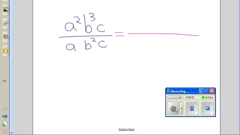 Thumbnail for entry Dividing terms with exponents example 2